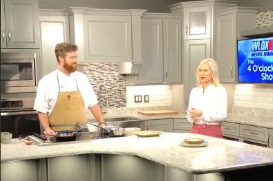 Chef Sumrall visits the WLOX-TV set